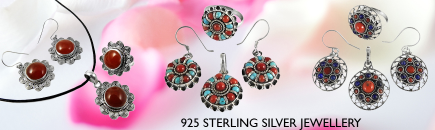 Cab Stone 4 Piece Jewelry Sets
